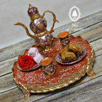 Turkish Tea For Two - A Sugar Artist's Tea Party What happens when a group of Sugar Artists come together for a Tea Party? Something stunningly beautiful is created! I was honored to be a...