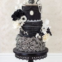 Victorian Gothic Chic Tea Party Here it is, my contribution for the tea sugar artist collaborations. I call it gothic chic with an victorian twist. I used a black and...