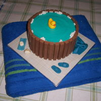 Water Basin This cake was part of a birthday present. The rest of the present was a big sauna towel.