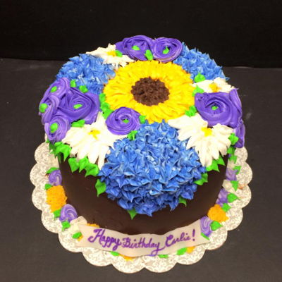 Buttercream Bouquet Cake