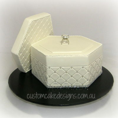 Engagement Ring Box Cake