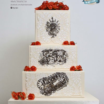 ''heading Out West'' Wedding Cake