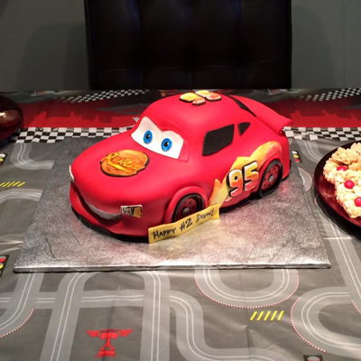 Lightning Mcqueen Sculpted Cake