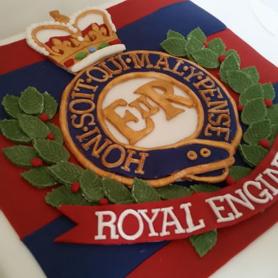 Royal Engineers Themed Fruit Cake