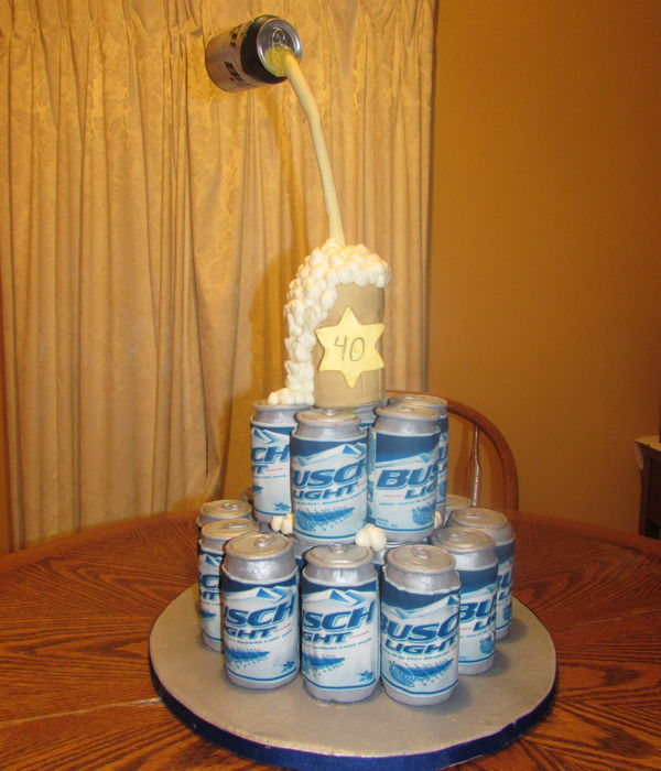 Busch Beer 40Th Birthday Cake