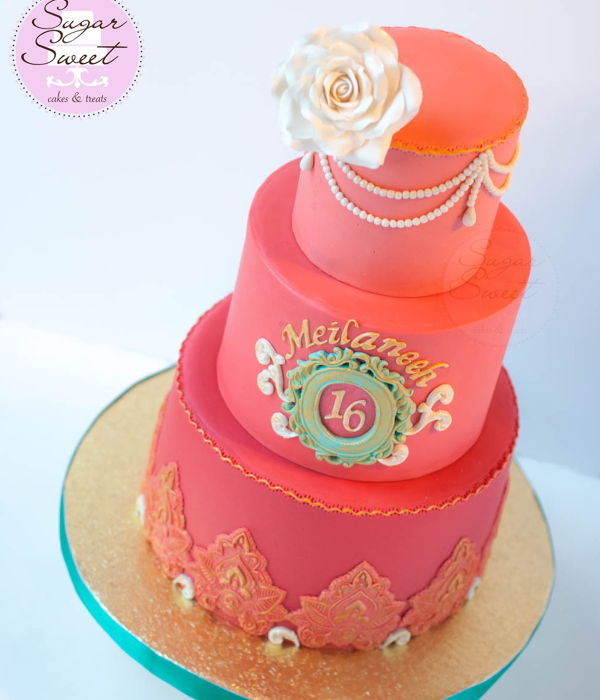 Cambodian Themed Sweet 16 Cake