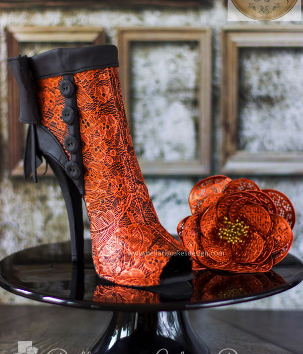 Copper Lace Boots