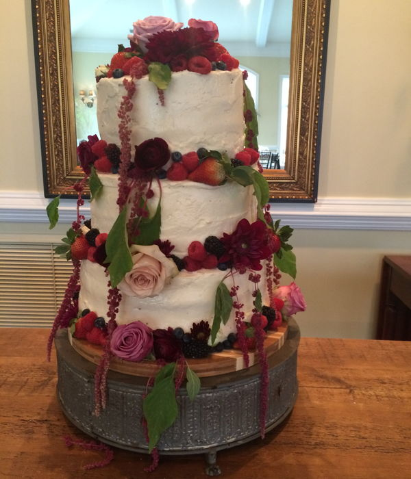 First Cake-- Flower Wedding