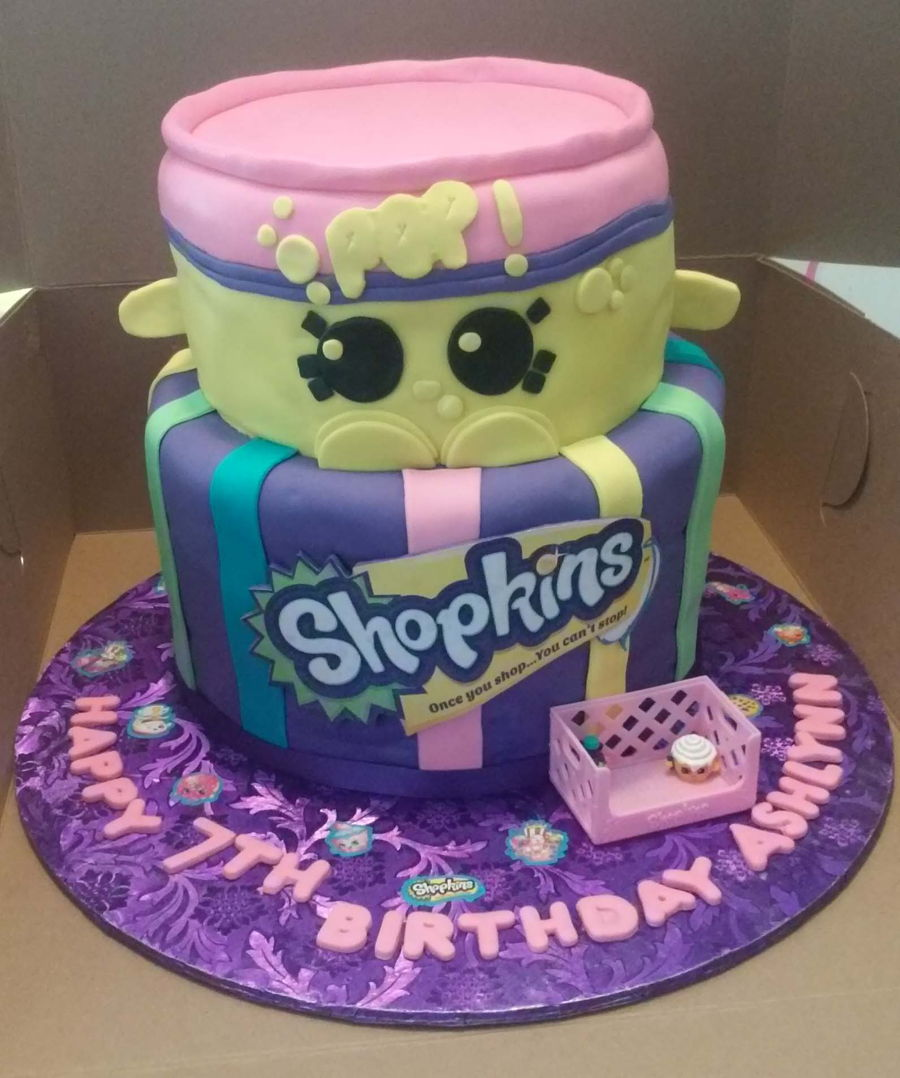 2 Tier Shopkins Cake With Soda Pop Cakecentral Com