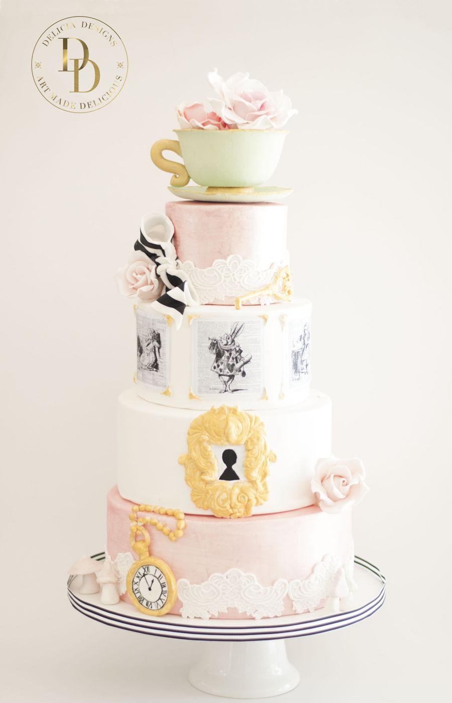 Alice In Wonderland Birthday Cake Images