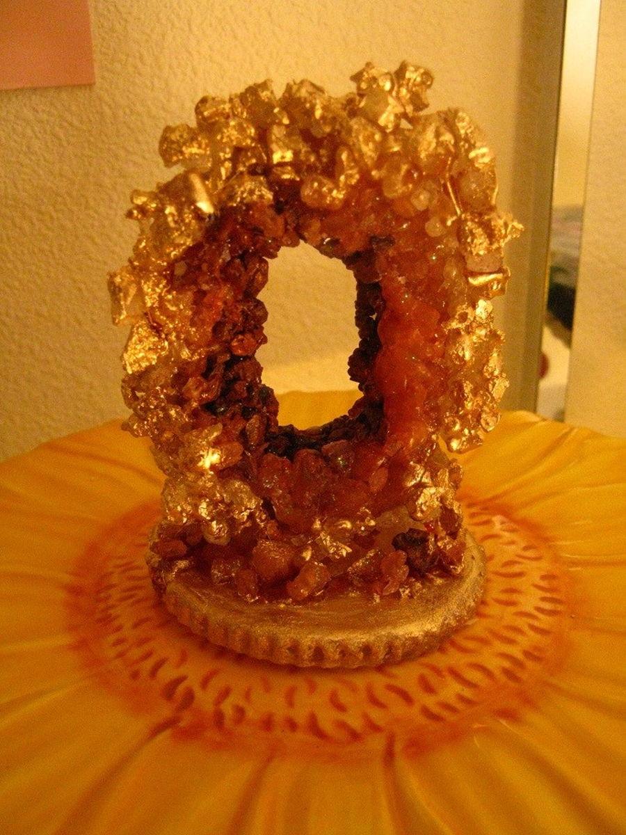 Amber Sugar Geode Topper - CakeCentral.com