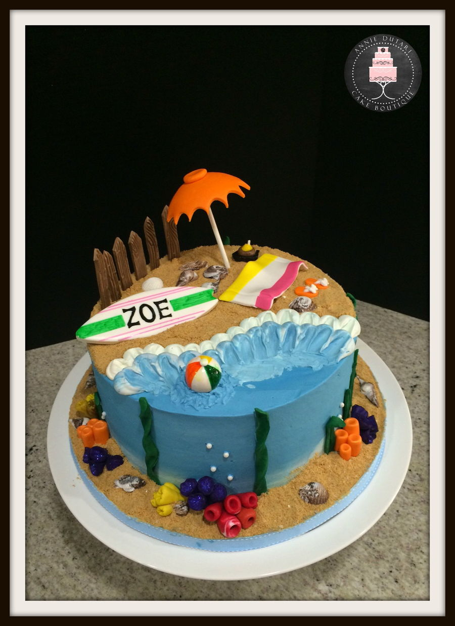 Beach Decorated Cakes