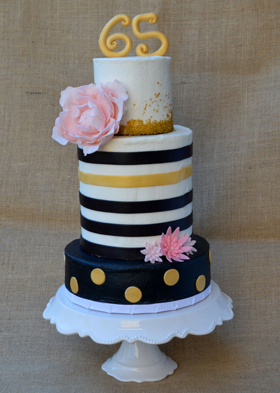 Black And Gold Cake on Cake Central