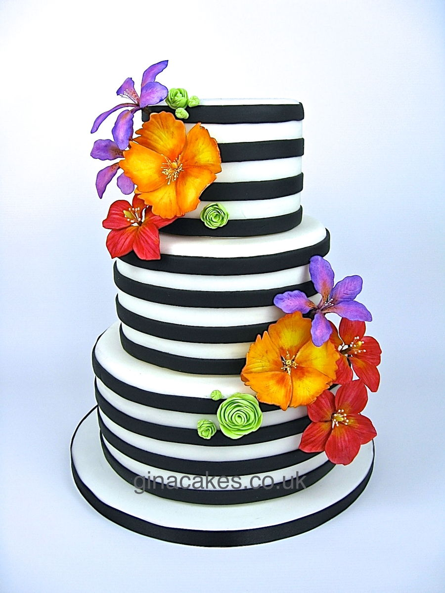 striped wedding cake black and white striped wedding cake cakecentral 20547