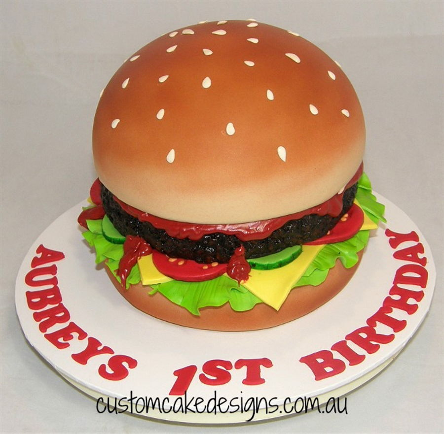 Magnificent Burger 1St Birthday Cake Cakecentral Com Funny Birthday Cards Online Inifofree Goldxyz