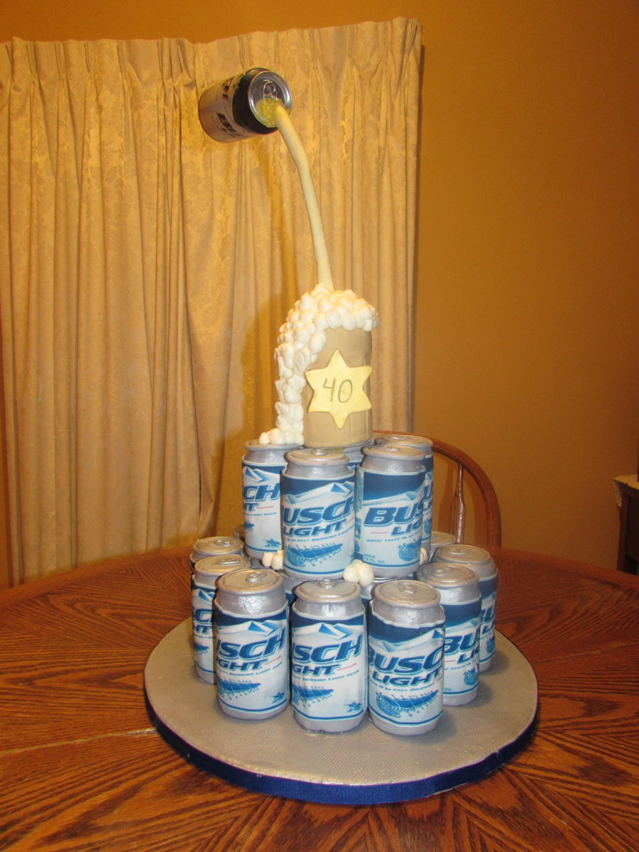 Busch Beer 40th Birthday Cake Cakecentral Com
