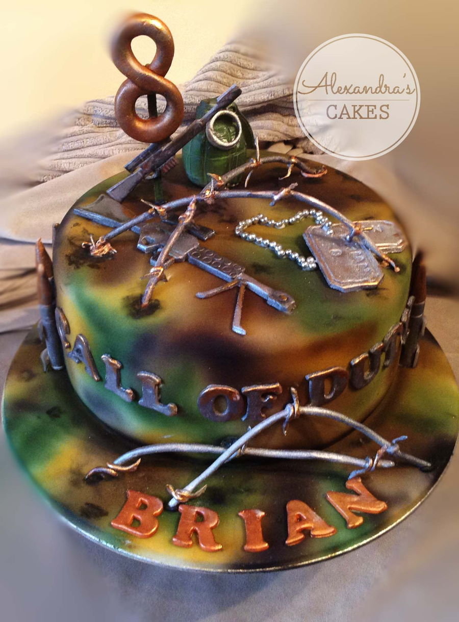 Call Of Duty Birthday Cake Cakecentral Com