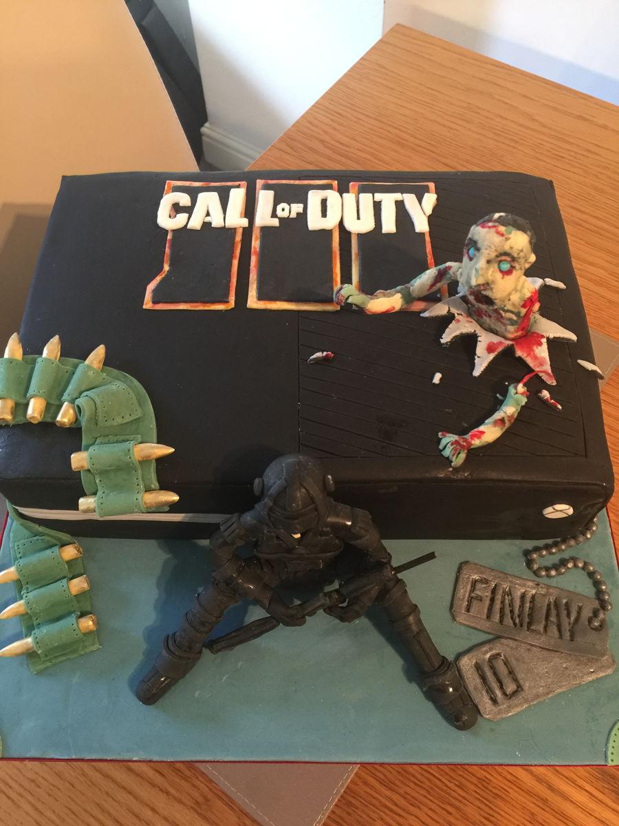 Black Xbox Cake