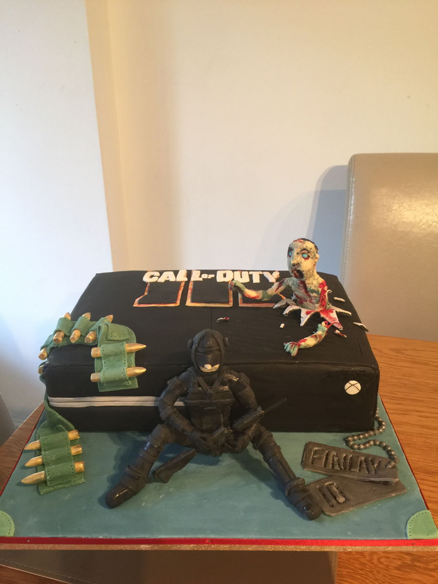 Call Of Duty Black Ops Zombie Xbox Cake Cakecentral Com
