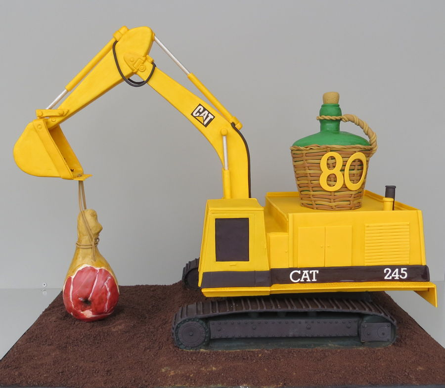 Caterpillar 245 on Cake Central