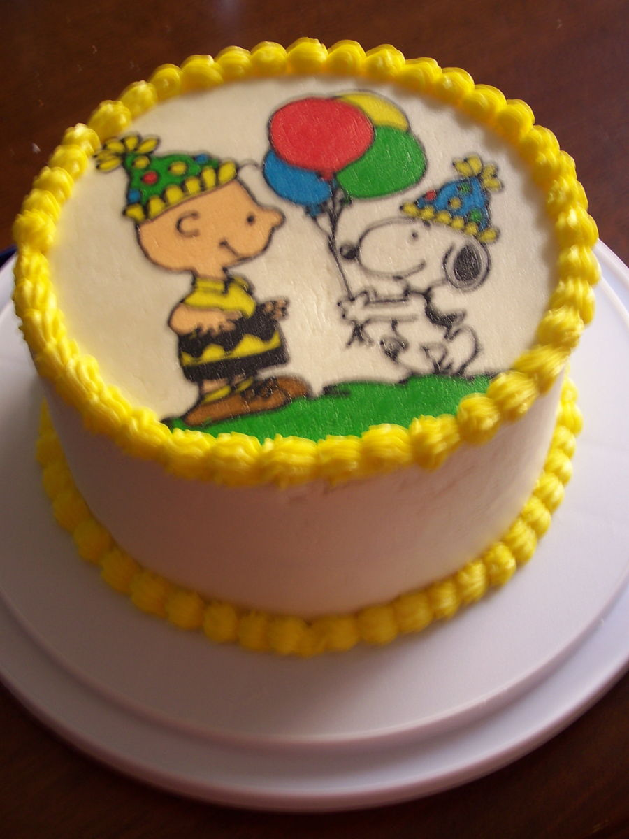 Charlie Brown And Snoopy Birthday Cake Cakecentral