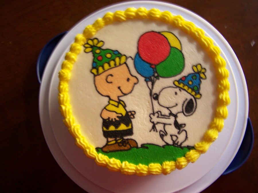 Astounding Charlie Brown And Snoopy Birthday Cake Cakecentral Com Funny Birthday Cards Online Alyptdamsfinfo