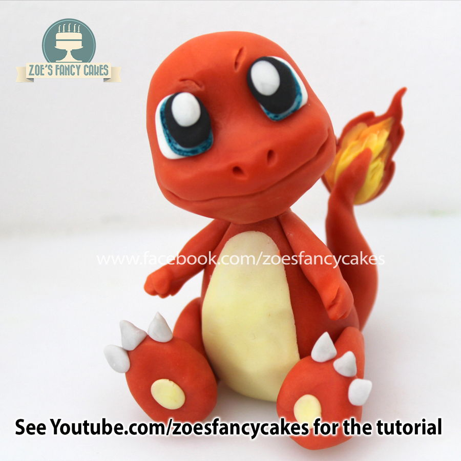 Charmander Cake Topper on Cake Central