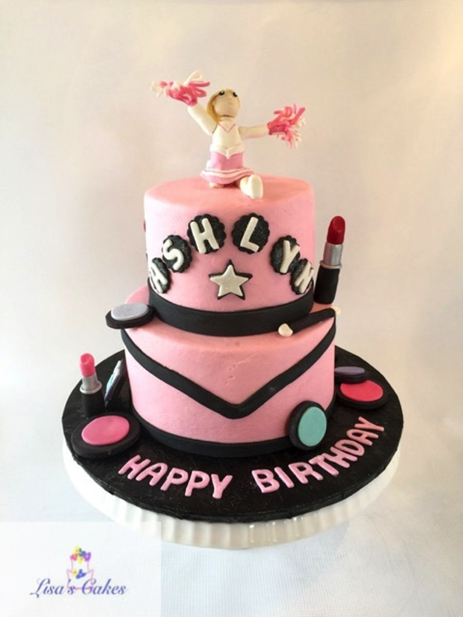 Super Cheerleader Make Up Birthday Cake Cakecentral Com Funny Birthday Cards Online Fluifree Goldxyz