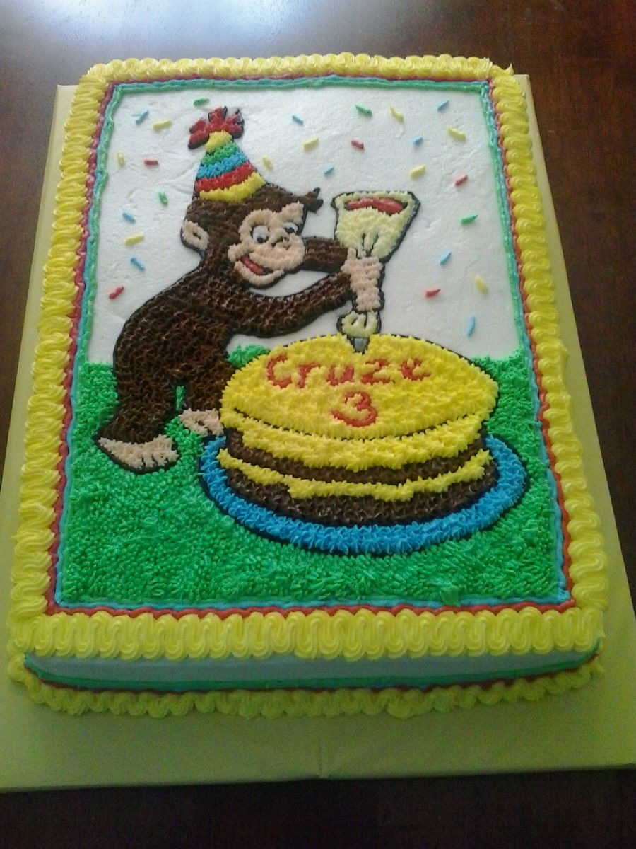 curious george birthday cake curious george birthday cake cakecentral 3236