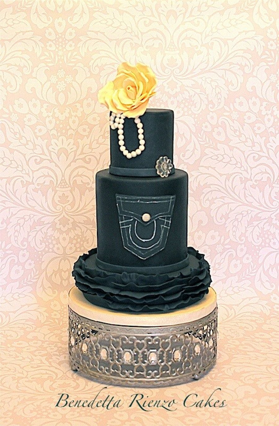 Denim And Diamonds Cake Cakecentral Com