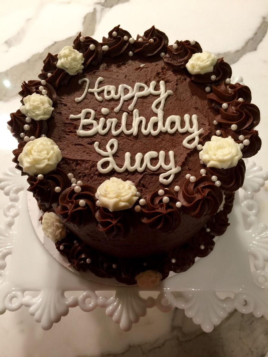 Elegant Chocolate Birthday Cake CakeCentralcom