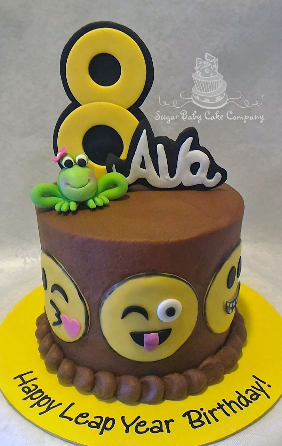 "Emoji ""leap Year"" Birthday Cake on Cake Central"