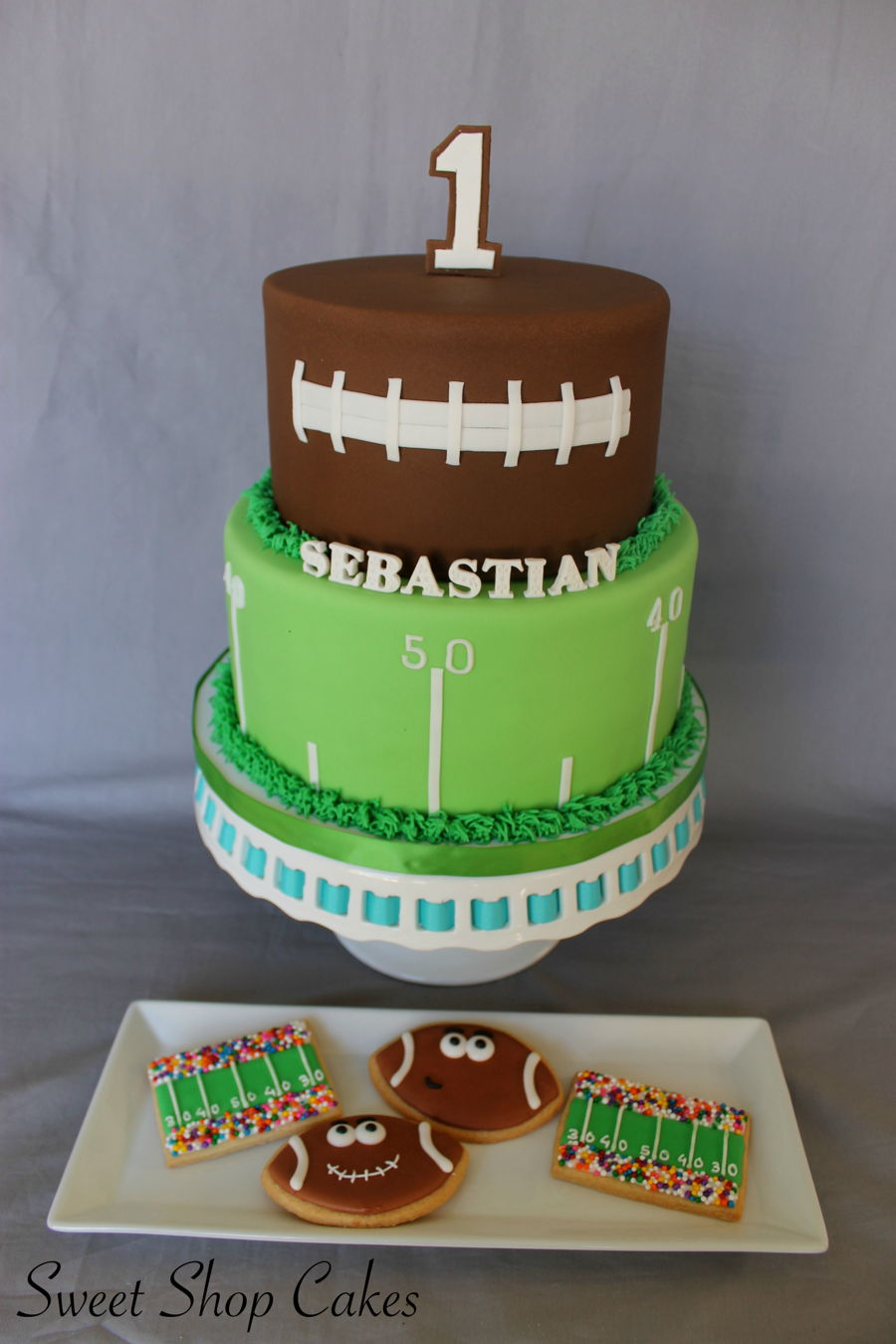 Wondrous Football Themed Birthday Cake Cakecentral Com Personalised Birthday Cards Paralily Jamesorg