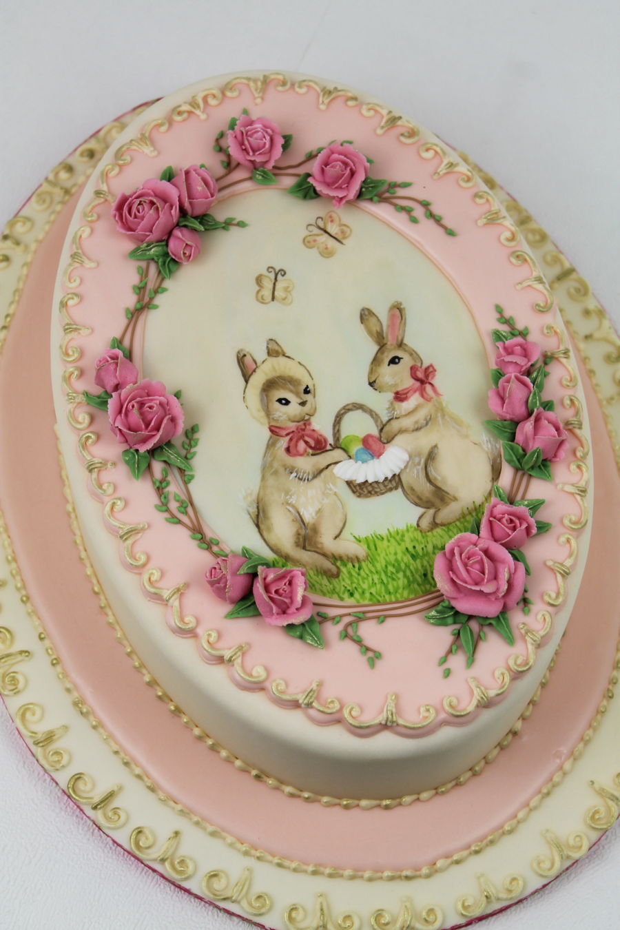 Easter Cake Icing Ideas : French Vintage Easter Cake - CakeCentral.com