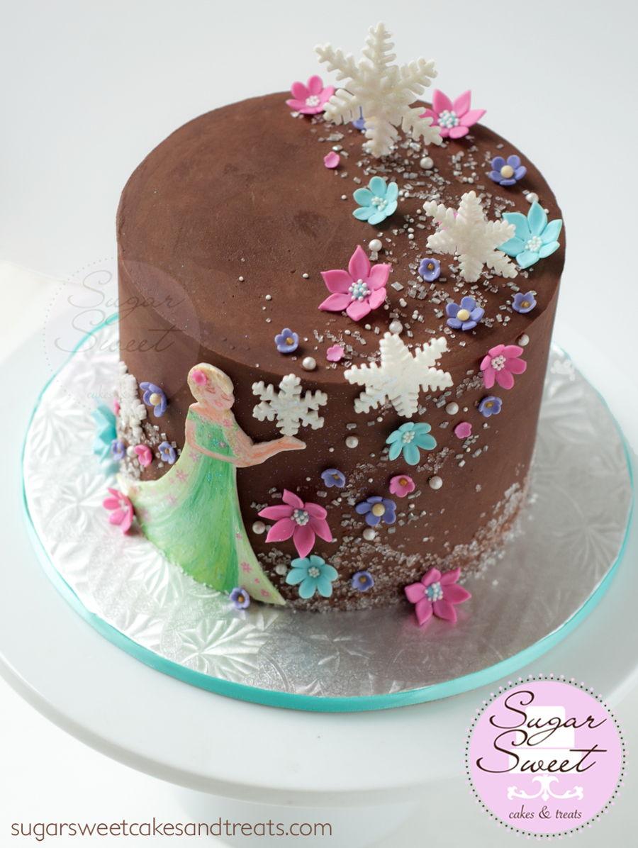 Frozen Fever Ganache Cake CakeCentralcom