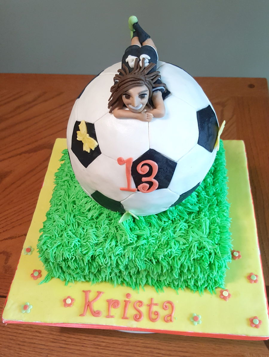 Girls Soccer Ball Cake Cakecentral Com