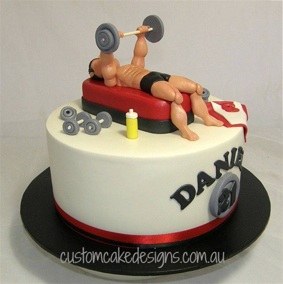 fitness themed wedding cake topper bodybuilding cake cakecentral 14303