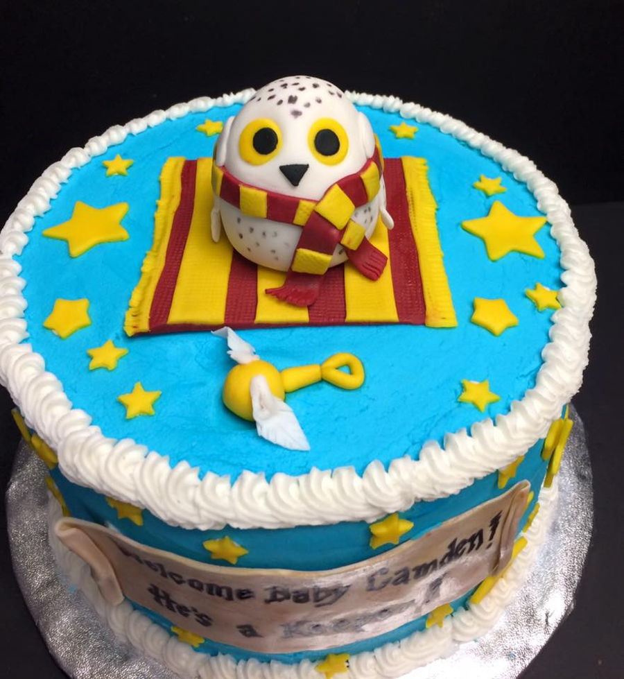 harry potter themed baby shower cake