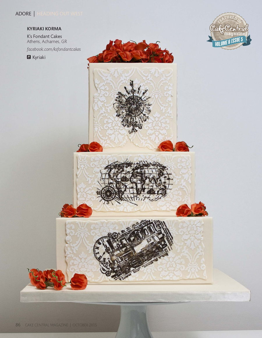 Heading Out West Wedding Cake Cakecentral Com