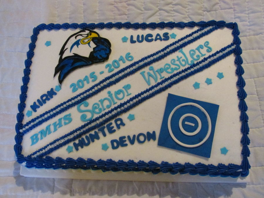 High School Wrestling Cake on Cake Central