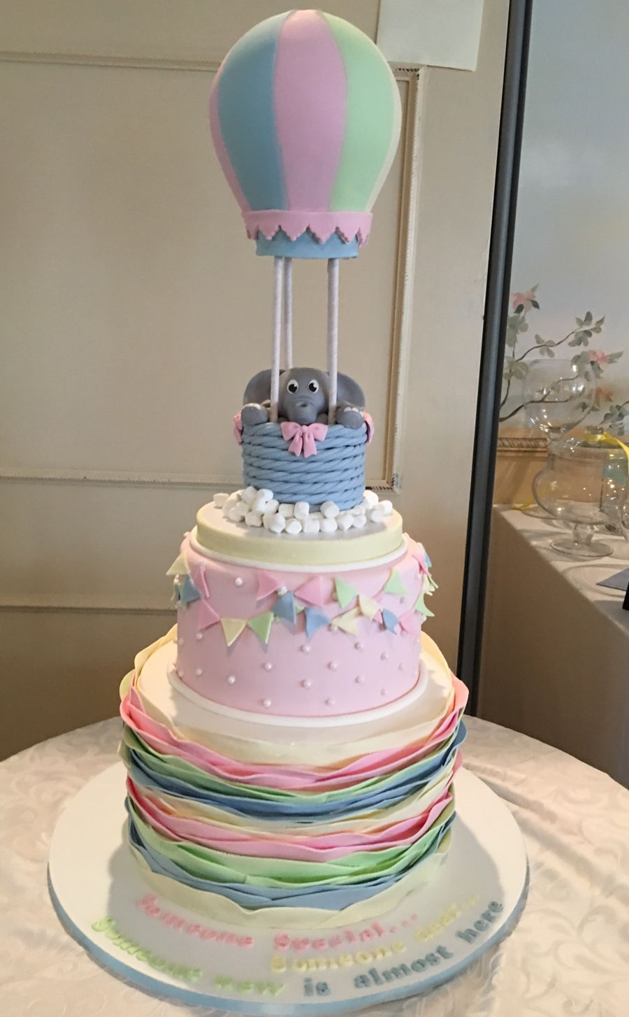 Exceptional Hot Air Balloon Baby Shower Cake Part - 3: Hot Air Balloon Baby Shower Cake On Cake Central