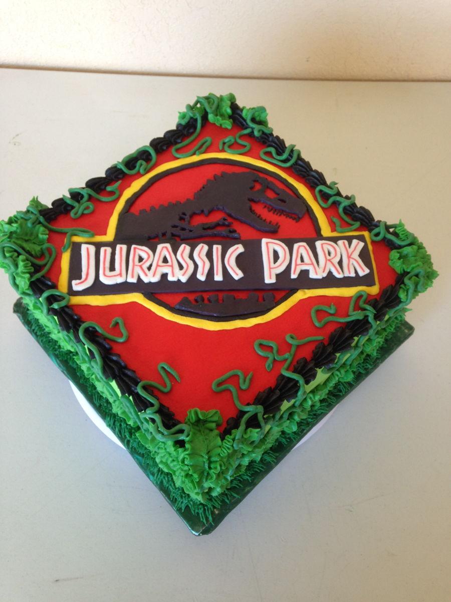 Jurassic Park Sheet Cake