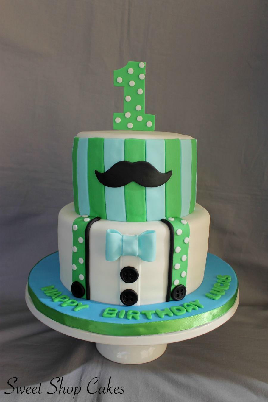 Little Man Themed Cake on Cake Central