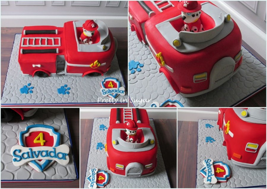 marshall fire truck paw patrol cakecentral com