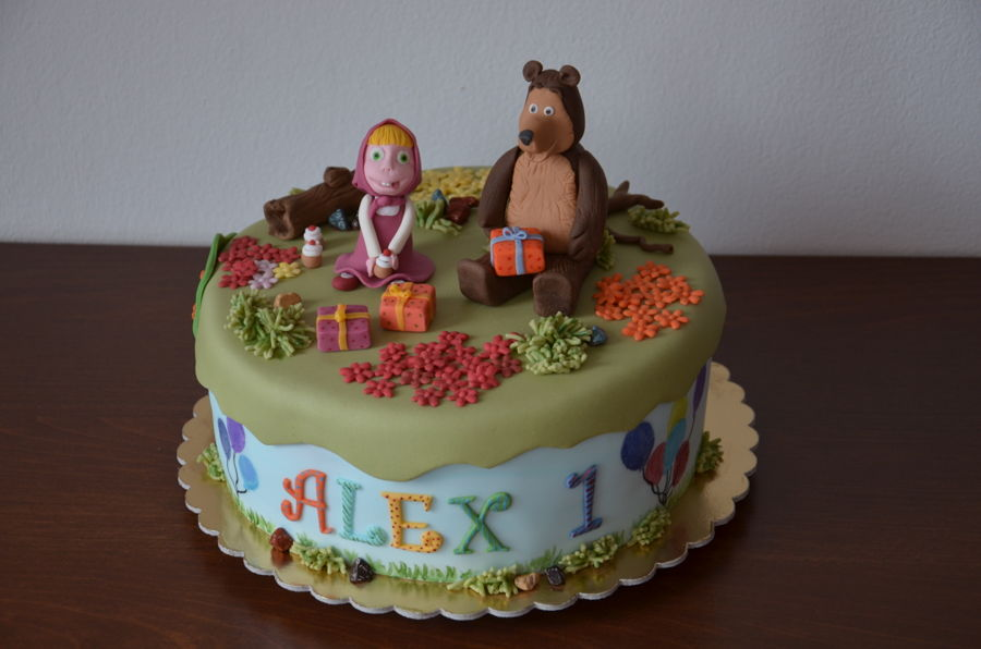 Masha And The Bear on Cake Central