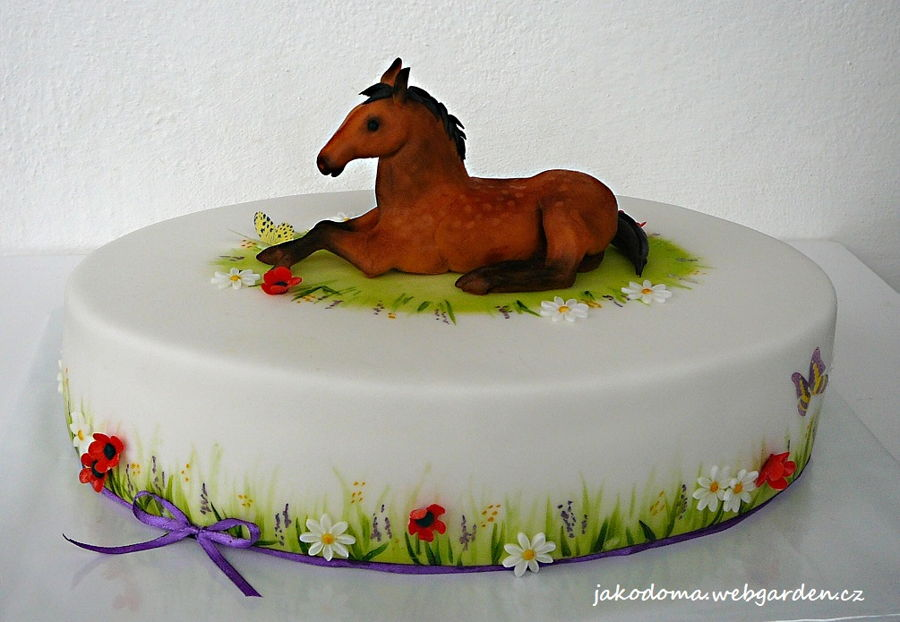Meadow Cake With A Horse Cakecentral Com