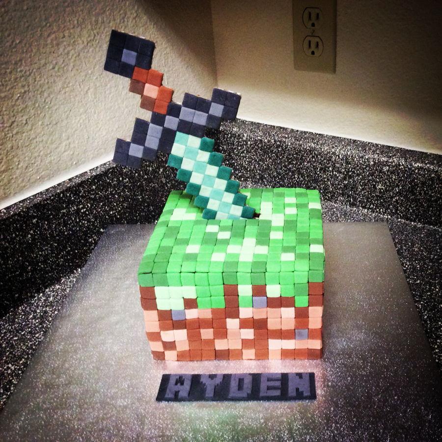 Decorating Ideas # Minecraft Birthday Cake  CakeCentralcom