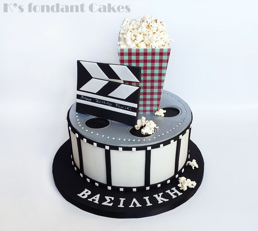 Movie Reel Birthday Cake Pics