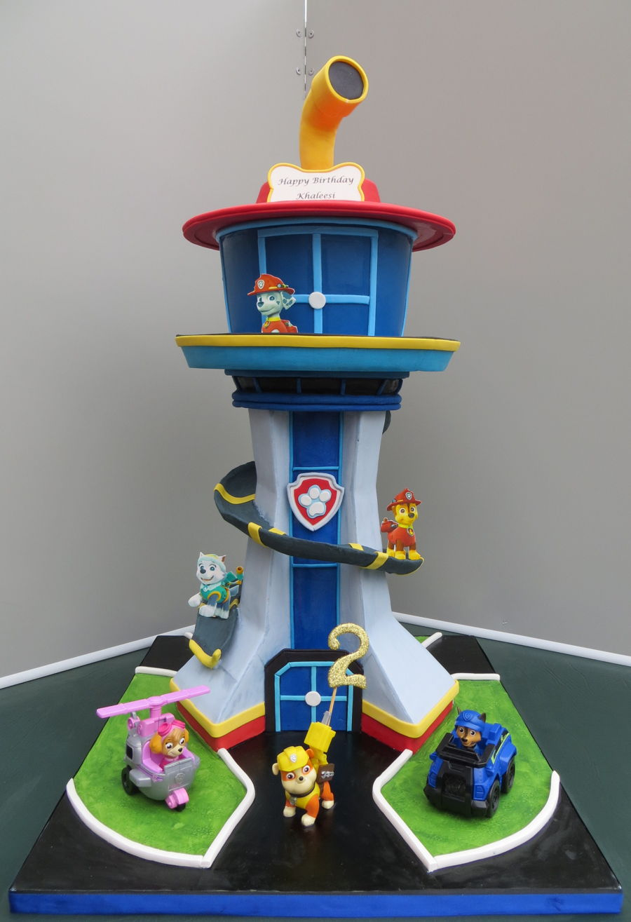 Paw Patrol Tower on Cake Central
