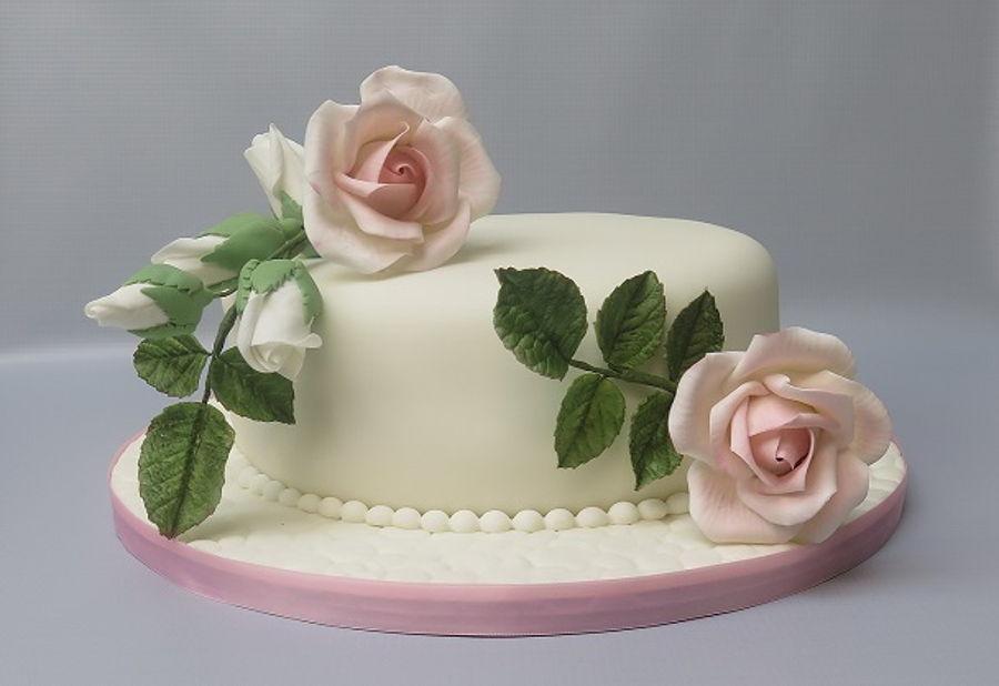 Pink Rose Cake Cakecentral Com